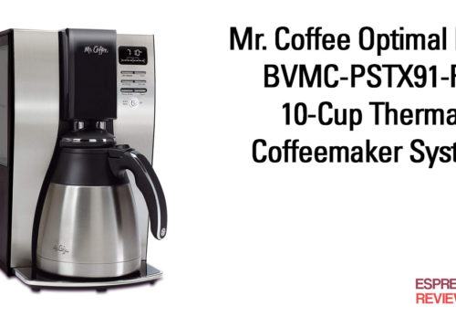 Mr. Coffee Optimal Brew BVMC-PSTX91-RB 10-Cup Thermal Coffeemaker System.