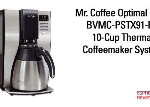 Mr. Coffee Optimal Brew BVMC-PSTX91-RB 10-Cup Thermal Coffeemaker System.